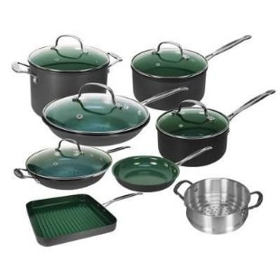 OrGreenic Complete Gourmet 16 Piece Ceramic Cookware Collection