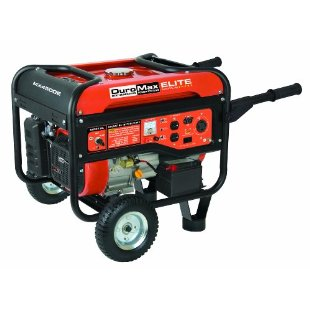 DuroMax Elite MX4500E Gas Powered Portable Generator with Wheel Kit & Electric Start