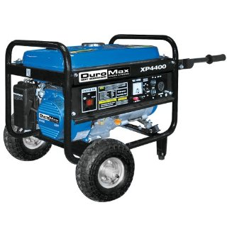 DuroMax XP4400 6.5 HP OHV 4-Cycle Gas Powered Portable Generator With Wheel Kit