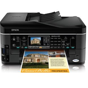 Epson WorkForce 645 Wireless All-in-One Color Inkjet Printer, Copier, Scanner, Fax (C11CB86201)