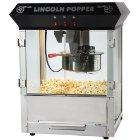 Great Northern Popcorn Black Bar-Style Lincoln Popper Popcorn Machine with 8-Ounce Kettle