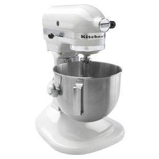 KitchenAid K4SS Bowl Lift Stand Mixer (White, K4SSWH)