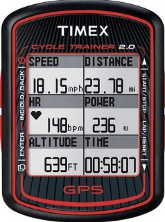 Timex Cycle Trainer 2.0 GPS Bike Computer with Heart Rate (T5K615F5)