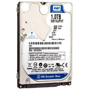 Western Digital 1TB WD Scorpio Blue SATA II 7200 RPM 8 MB Cache Notebook Hard Drive (WD10JPVT)