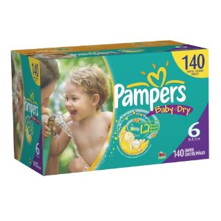 Pampers Baby-Dry Diapers (Size 6, Economy Pack Plus of 140 Diapers)