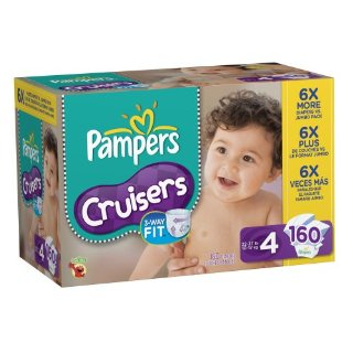 Pampers Cruisers Diapers (Size 4, Economy Pack Plus of 160 Diapers)