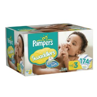 Pampers Swaddlers Diapers (Size 3, Economy Pack Plus of 174 Diapers)