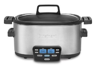 Cuisinart MSC-600 3-In-1 Cook Central Multi-Cooker: Slow Cooker, Brown/Saute, Steamer