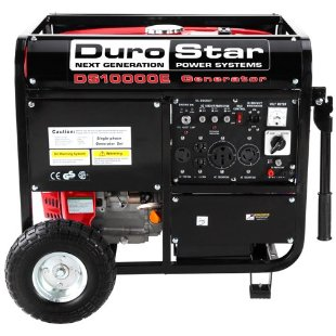 Durostar DS10000E OHV Gas Powered Electric Start Portable Generator With Wheel Kit