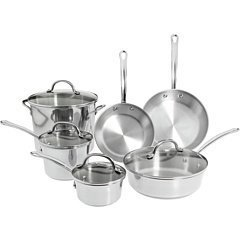 Farberware Millennium Stainless Steel Tulip Series 10-Piece Cookware Set