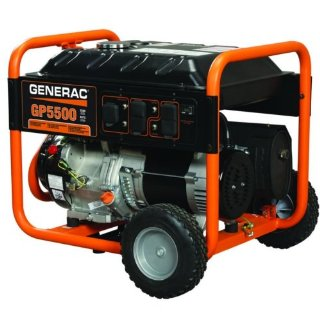 Generac GP5500 5500/6875 Watt 389cc OHV Portable Gas Powered Generator (5939)