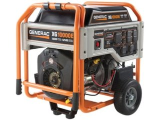 Generac XG10000E 10,000 Watt Gas Powered Portable Generator with Wheel Kit & Electric Start