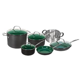 OrGreenic 10-Piece Ceramic Non-Stick Cookware Set