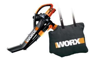 WORX WG502 TriVac Deluxe eBlower/Mulcher/Vacuum with All-Metal Mulching System