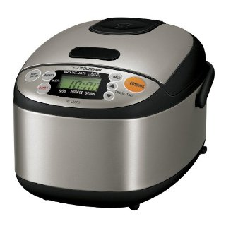 Zojirushi NS-LAC05 XT Micom 3-Cup Rice Cooker and Warmer (Stainless Steel)