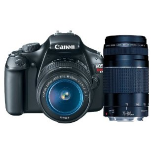 Canon EOS Rebel T3 12.2MP Digital SLR with 18-55mm IS II Lens and EF 75-300mm III Telephoto Zoom Lens