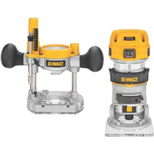 DeWalt DWP611PK Compact Router Combo Kit with Fixed Base and Plunge Base