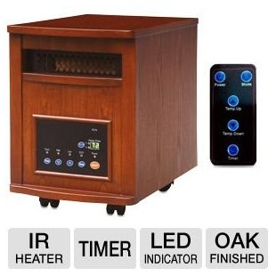 Lifesmart Power Plus 1500w Infrared Quartz Heater for 1800 sq. ft. with Remote (LS-PP1800-6WCH)