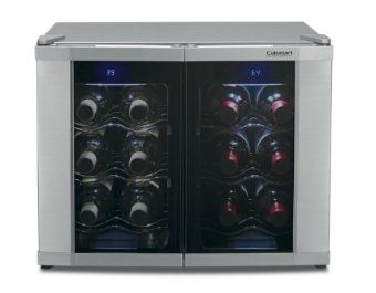 Cuisinart CWC-1200DZ 12-Bottle Dual Zone Wine Cellar
