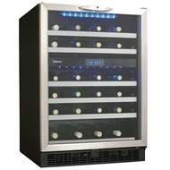 Danby Silhouette 51 Bottle Built-In Dual Zone Wine Cooler (DWC153BLSST)
