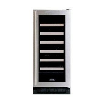 Marvel 30WCMBSGR Luxury Series 23-Bottle Wine Cellar with Amber LED Display