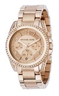 Michael Kors MK5263 Rose Gold Runway Glitz Blair Chronograph Watch (Women's)