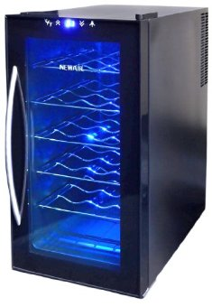 NewAir AW-180E Space Saver 18-Bottle Thermoelectric Wine Cooler (Black)