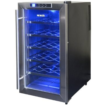 NewAir AW-181E Space Saver 18 Bottle Thermoelectric Wine Cooler (Stainless Steel)