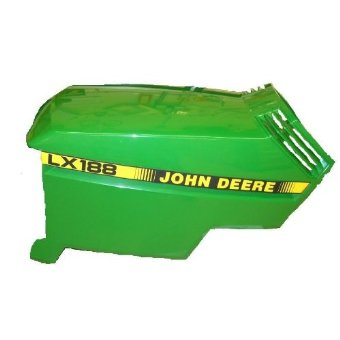John Deere Upper + Lower Hood fits LX178, LX188 (Part Numbers: AM132526, AM117724)