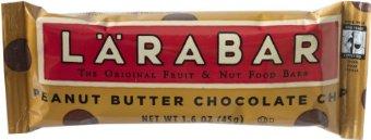 LaraBar Fruit & Nut Food Bar (Peanut Butter Chocolate Chip, 1.6oz Bars, Pack of 16)