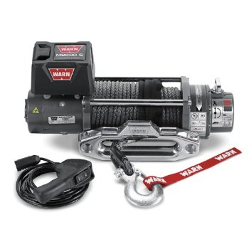 Warn M8000-s Winch with Spydura Synthetic Rope (87800)