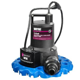 Wayne WAPC250 1/4 HP Auto On/Off Water Pool Cover Removal Pump