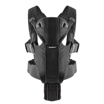 BabyBjorn Baby Carrier Miracle (Airy Mesh, Black)
