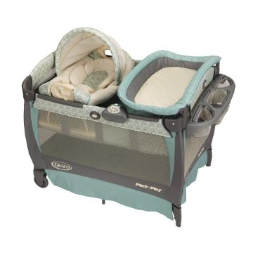 Graco Cuddle Cove Pack 'n Play Playard with Newborn Rocker and Changer (Winslet)