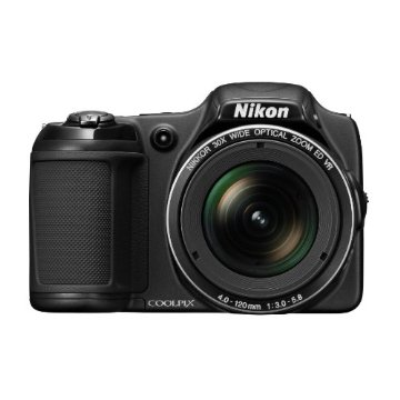 Nikon Coolpix L820 16 MP CMOS Digital Camera with 30x Zoom and 1080p Video (Black)