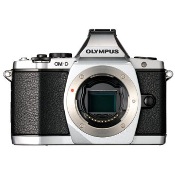 Olympus OM-D E-M5 16MP Micro 4/3 Mirrorless Camera (Silver, Body Only)