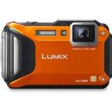 Panasonic Lumix DMC-TS5 16.1MP Tough Digital Camera with 9.3x Zoom and Wi-Fi (Orange)