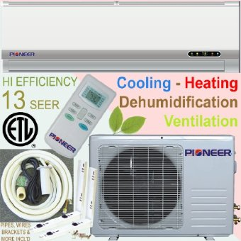 Pioneer Ductless Mini Split Air Conditioner with Heat Pump and Installation Kit (18000 BTU (1.5 Ton), 13 SEER)