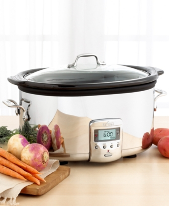 All-Clad Polished Stainless Steel 7-Quart Slow Cooker with Ceramic Insert