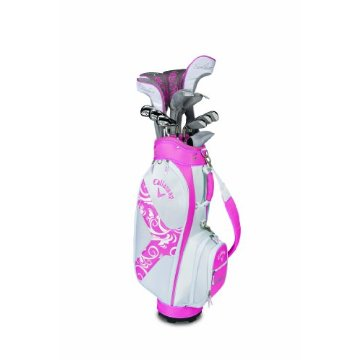 Callaway Solaire II 14-Piece Complete Women's Golf Set (Pink, Right Hand, Graphite, Driver, Fairway Woods, Hybrids, Irons, Wedges, Putter, and Bag)