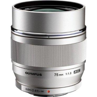 Olympus M.Zuiko Digital ED 75mm f1.8 Lens for Olympus and Panasonic Micro 4/3 Cameras (Silver)