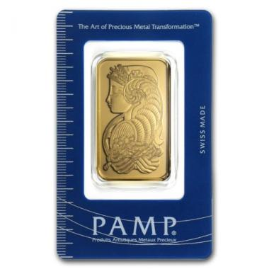 PAMP Suisse 1 Troy Oz .9999 Fine Gold Bar with Assay Certificate