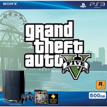 Sony Playstation 3  500GB Grand Theft Auto V Bundle