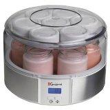 Euro Cuisine YMX650 Automatic Digital Yogurt Maker with 7 Jars