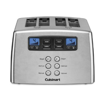 Cuisinart CPT-440 Touch to Toast Countdown Lever-less 4-Slice Toaster
