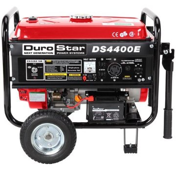 Durostar DS4400E Electric Start Gas Powered Portable Generator with Wheel Kit