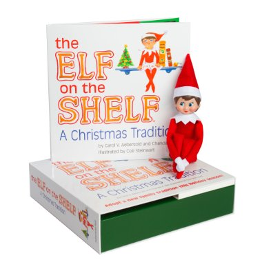 The Elf on the Shelf: A Christmas Tradition Storybook with North Pole Pixie Blue-Eyed Girl Elf