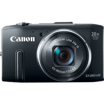Canon PowerShot SX280 HS 12MP Digital Camera with 20x IS Zoom (Black)
