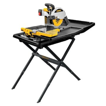 "DeWalt D24000S Heavy-Duty 10"" Wet Tile Saw with Stand"