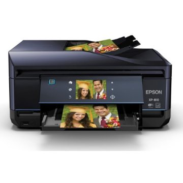 Epson Expression Premium XP-810 Small Wireless Color Photo Printer with Scanner, Copier and Fax (C11CD29201)